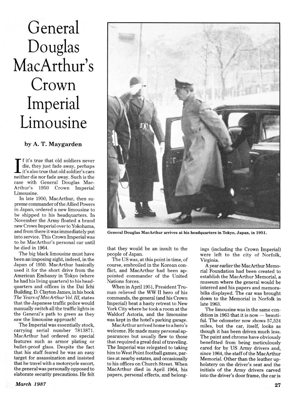 General Douglas Macarthur S Crown Imperial Limousine HD Wallpapers Download free images and photos [musssic.tk]