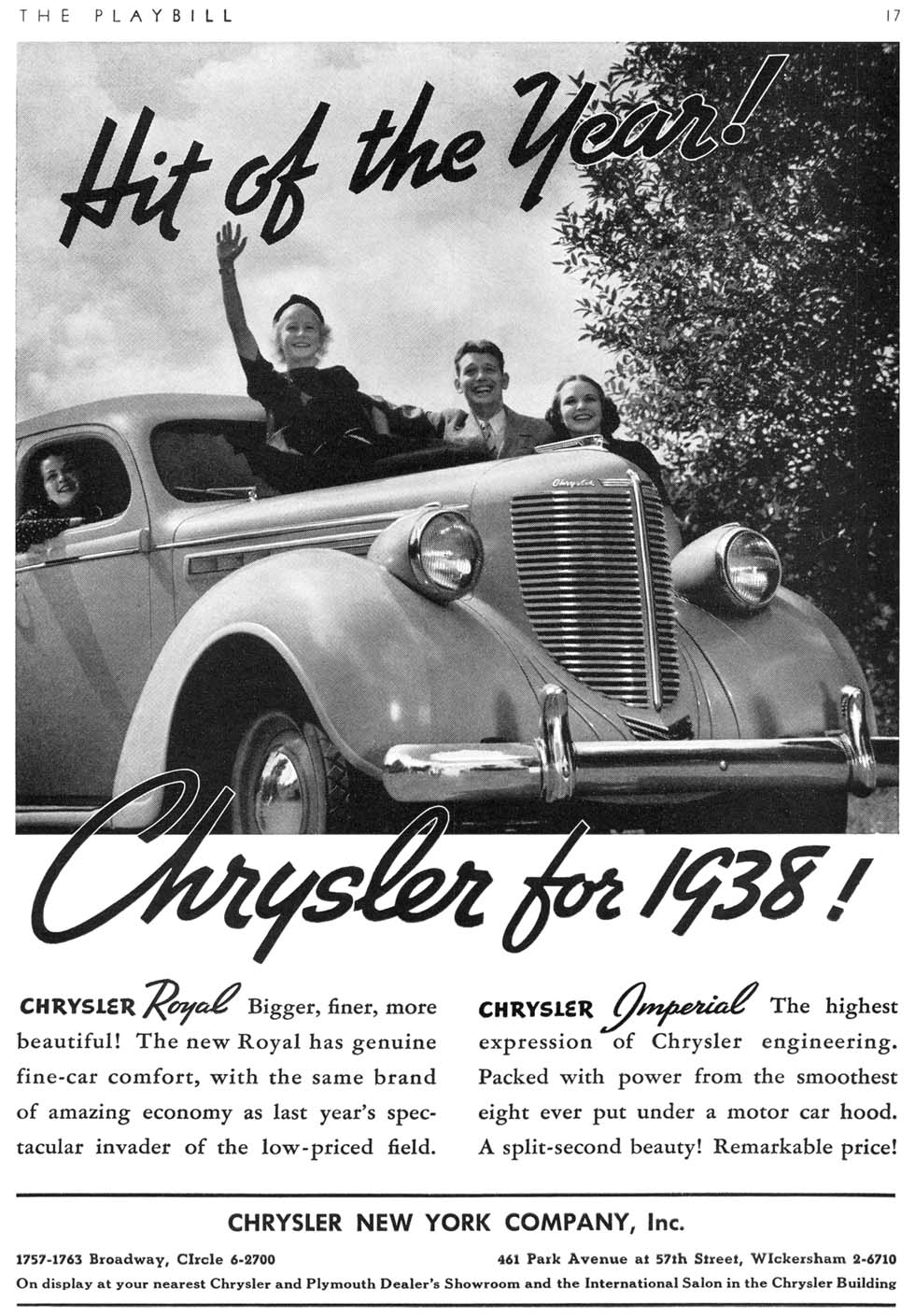 Any Car Online >> 1938 Chrysler Imperial Ads