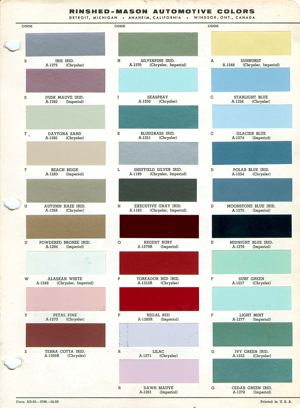 Car paint colour codes holden