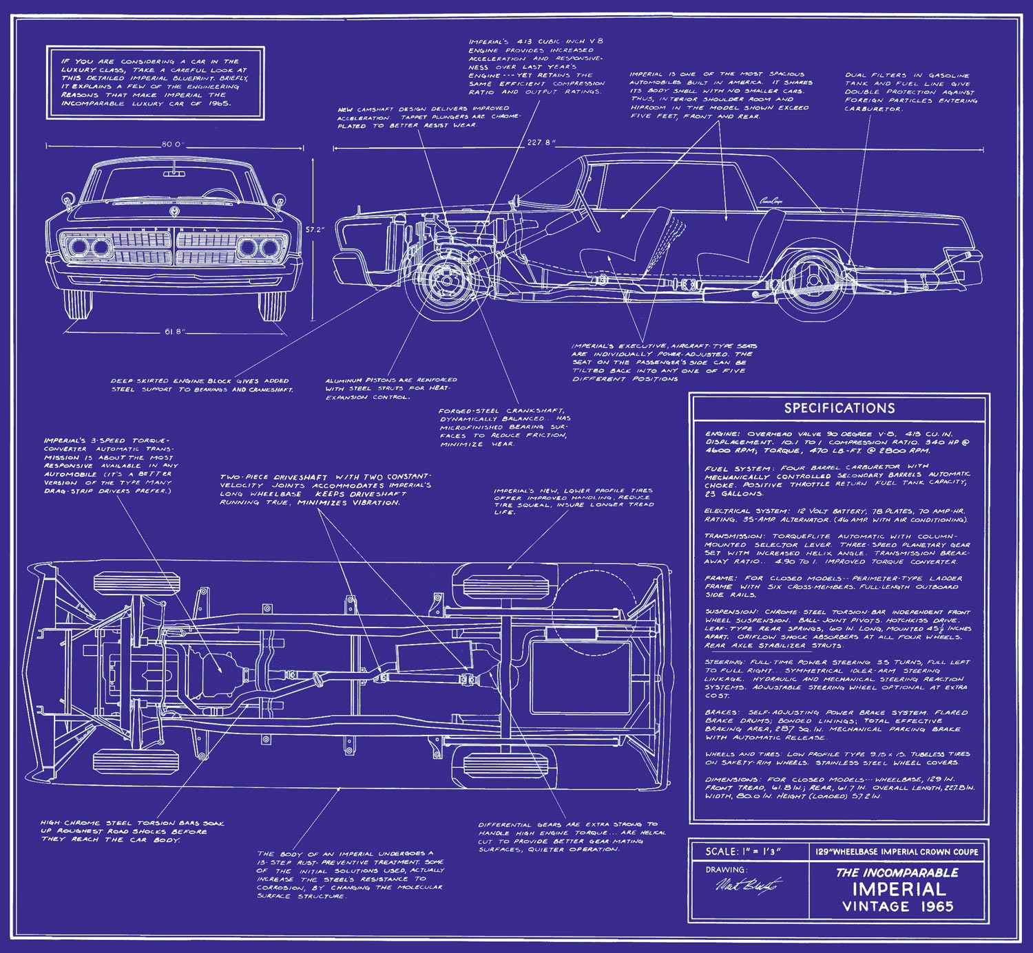 1965 Chrysler Imperial Blueprint