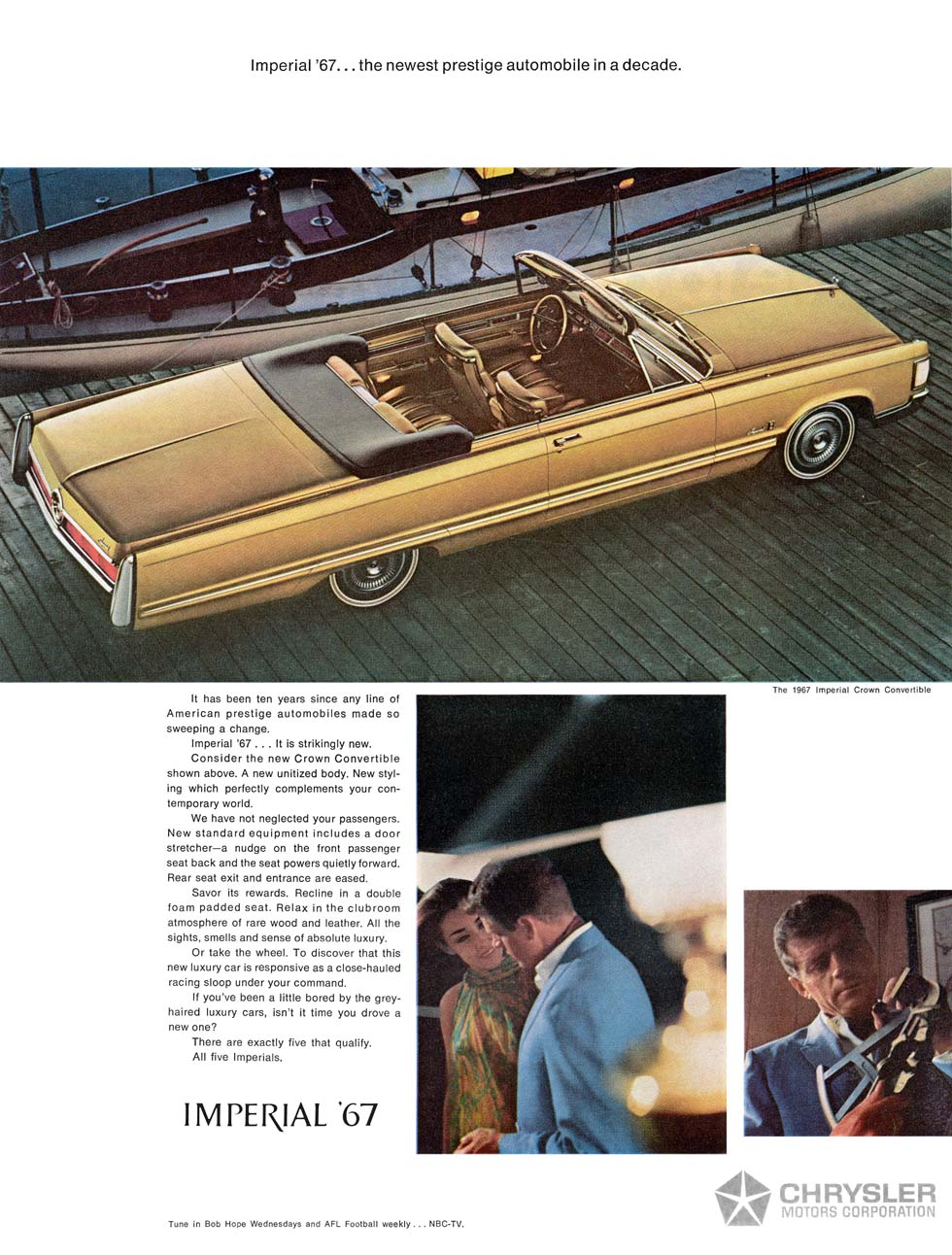 1967 Imperial Crown Convertible advertisement.