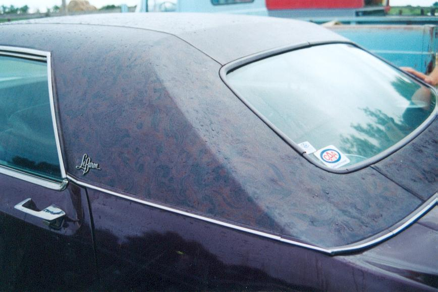 Rare Burgundy Quot Un Paisley Quot Vinyl Roof Treatment Offered On